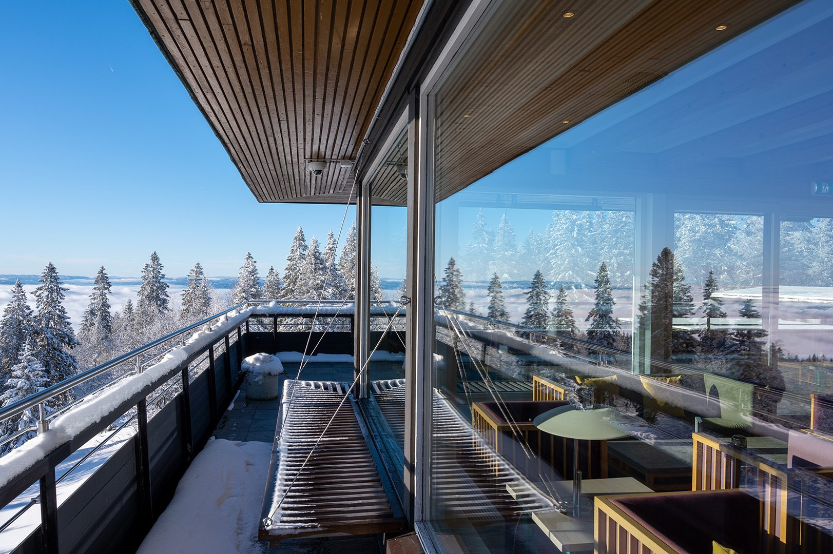Voksenåsen terrasse vinter