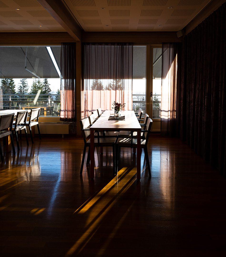 Restaurantområde hos Voksenåsen