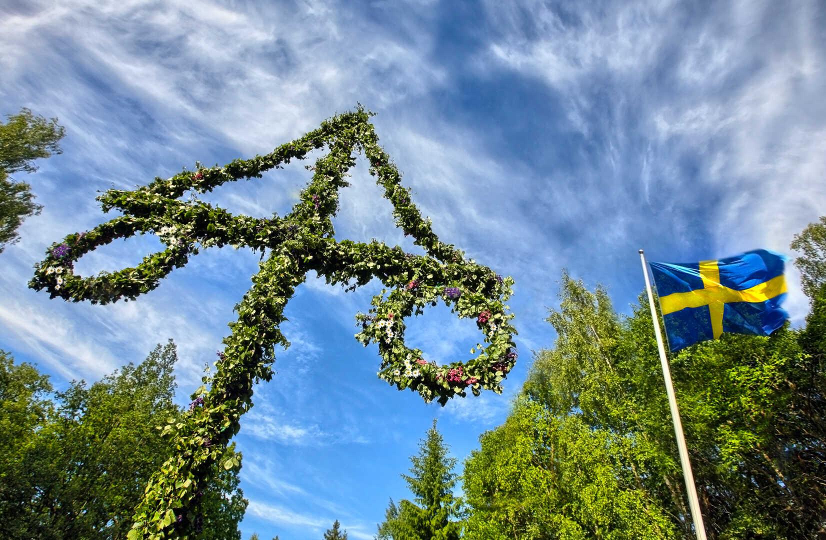 Maistang og det svenske flagget