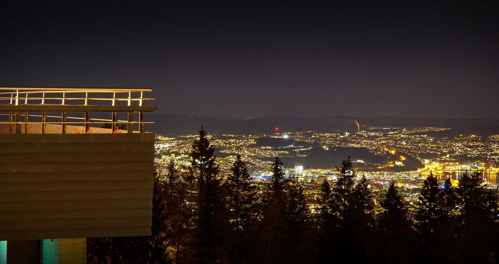 Kveldsutsikt fra Voksenåsen