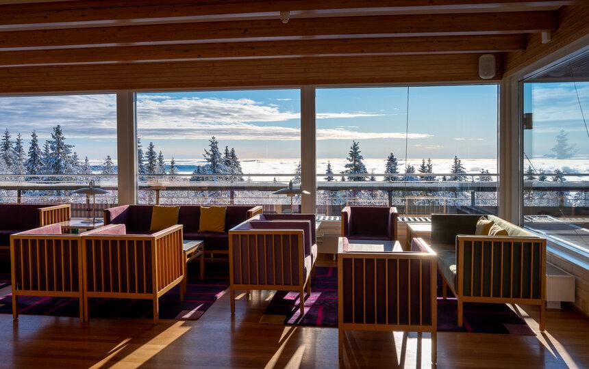 Loungeområde hos Voksenåsen