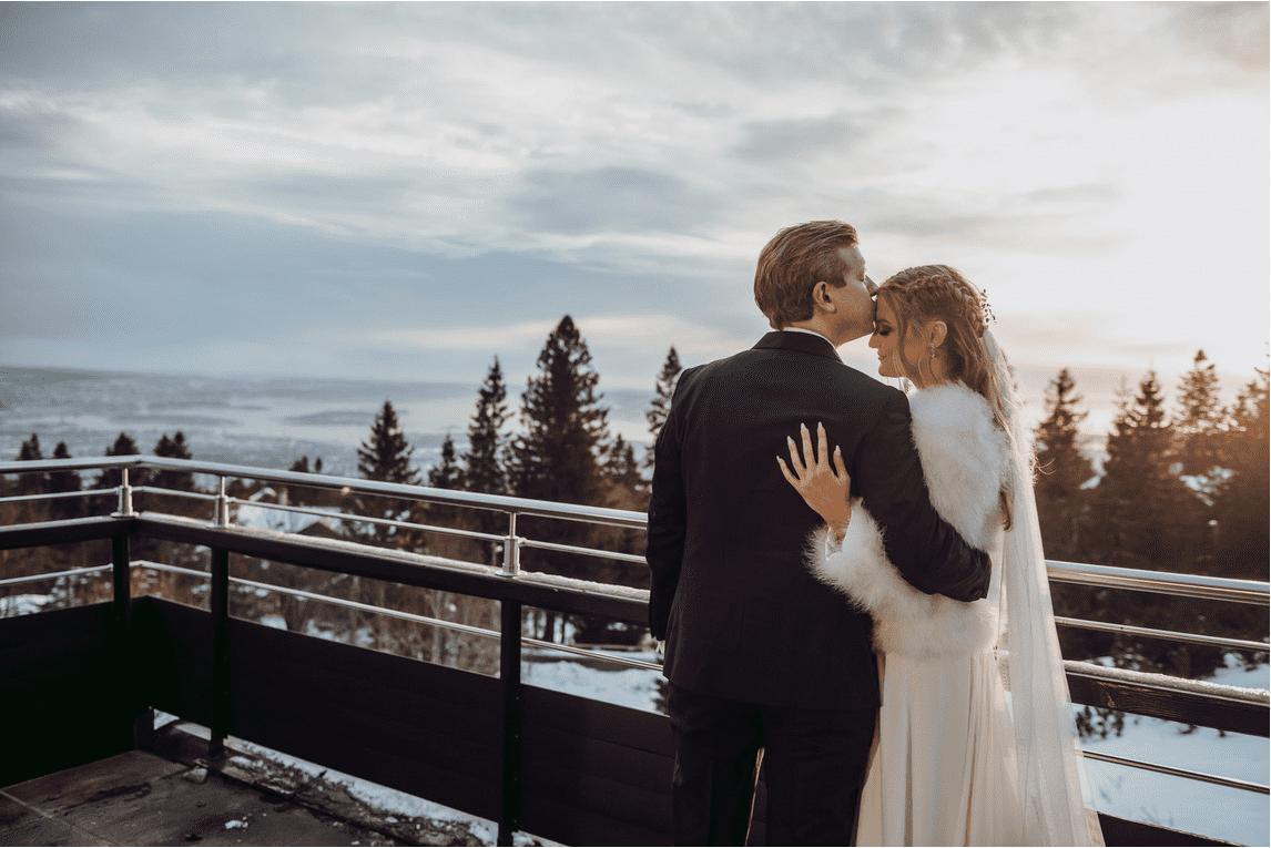 Brudepar på Voksenåsen